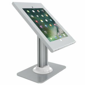 Counter-Top-iPad-Pro-12-9-034-Anti-Theft-Kiosk-Case-Mount-with-Base-Silver