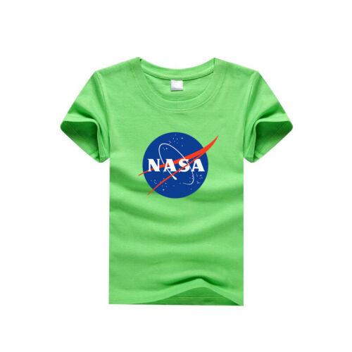 NASA Space Logo T Shirt Kids Boys Girls Casual Summer T-shirt For Children
