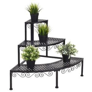 Metal-Plant-Shelves-Flower-Pot-Corner-Display-Stand-3-Tier-Holder-Ladder-Rack-US