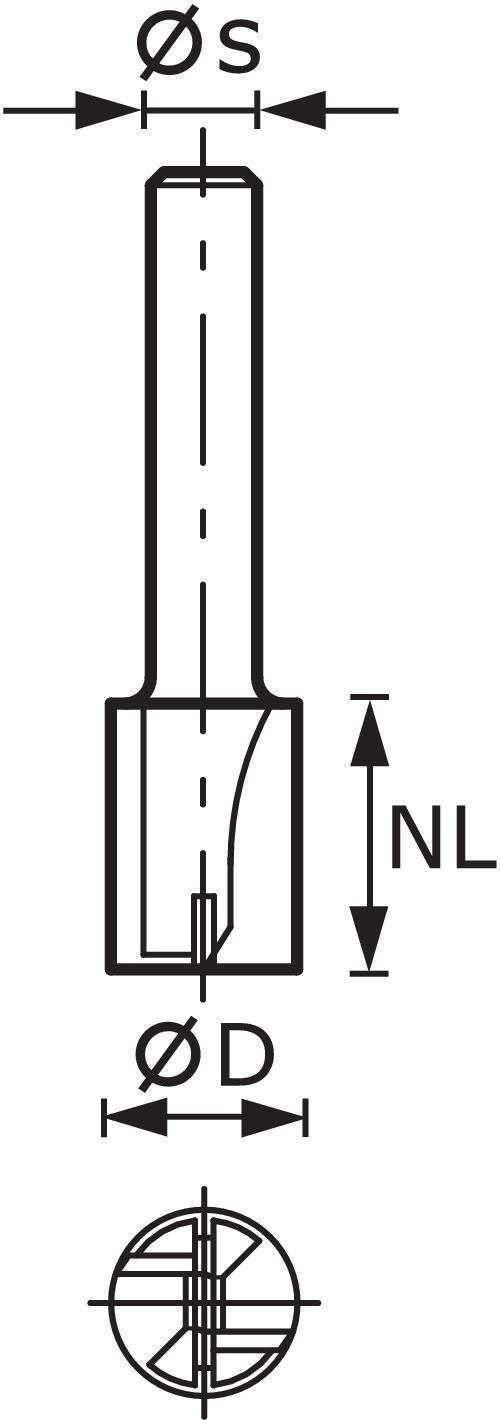 Festool Nutfräser HW S12 D18 45 491092