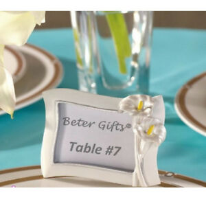 Mini Freestanding Photo Picture Frame Place Card Holder Party Table Decor
