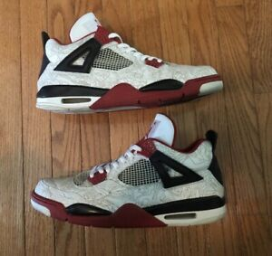 buy popular 097d5 d973c Details about Nike Air Jordan IV 4 White Laser Men's Size 14