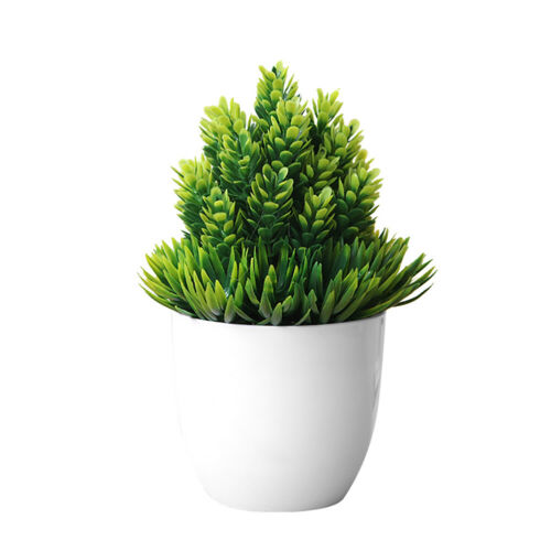 New Artificial Potted Plant Fake Bonsai Table Simulation Decor for Home Office