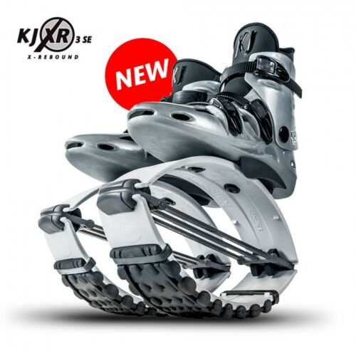 Org. Kangoo Jumps KJ XR3 Springschuhe White/Black Größe XL (passt bei 45 - 47,5)