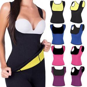 fd61c1f3bde Women Neoprene Hot Sweat Vest Sauna Body Shaper Waist Trainer ...