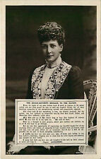Real Photo Postcard The Queen Mother & Message to the Nation - Rotary Photo