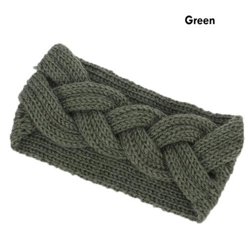 Women Turban Crochet Knitted Headwrap Headband Winter Warmer Hair Band UK