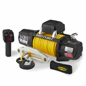 Smittybilt-98510Y-X2O-Gen2-10-000-Pound-Wireless-Waterproof-Synthetic-Rope-Winch