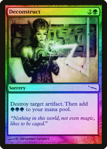 Deconstruct FOIL Mirrodin NM-M Green Common MAGIC THE GATHERING CARD ABUGames