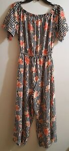 d0b34c3c92a3 J For Justify Women s Floral Romper Short Sleeves Size S M