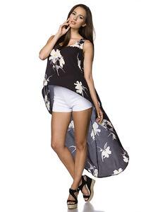 Sexy Glamour L Fashion S Fiori Donna Con m Taglia Canotta Strascico xl Top ITPqaHwn