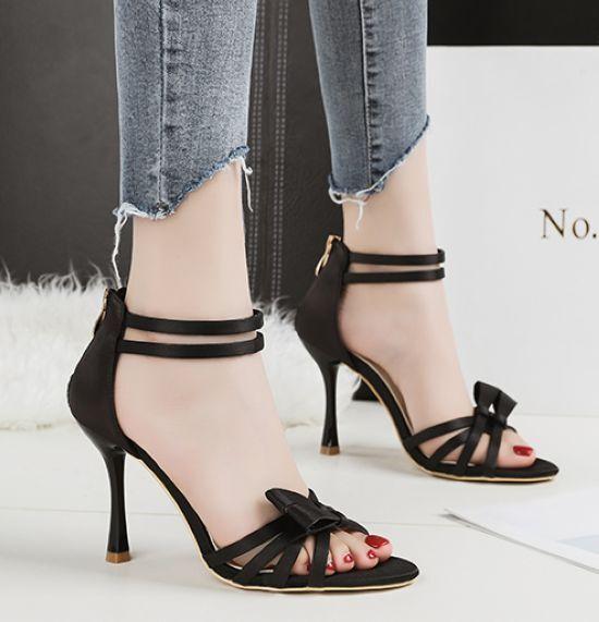 Sandale stiletto eleganti  9.5 cm nero simil pelle simil pelle eleganti 8913