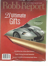 ROBB REPORT, DECEMBER, 2013 ( 30th ANNUAL HOLIDAY GUIDE * 21 ULTIMATE GIFTS )