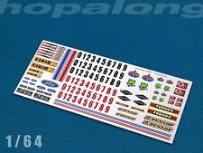 Scalextric/slot car/diecast Escala 1/64 tobogán calcomanías. sf006