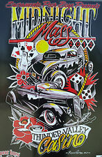 RAT HOT ROD VTG CAR SHOW POSTER LOWRIDER CUSTOM TATTOO ART MIDNIGHT MASS CLUB