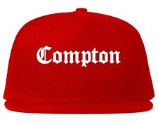 Kings Of NY Compton Printed Snapback Hat Cap One Size La Red Black Blue Grey NYC