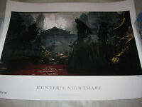 Bloodborne Hunter's Nightmare Limited Edition Official Lithograph Print 273