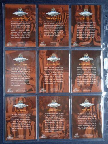 NEWCASTLE UNITED PLATINUM GREATEST 1998 *PICK THE CARDS YOU NEED* FUTERA