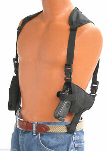 Horizontal-Shoulder-holster-With-Double-Mag-Pouch-Sig-Sauer-p220-p226-W-Laser