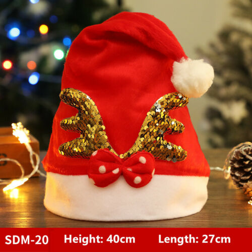 Christmas hat party decoration adult children holiday gifts wholesale santa hat