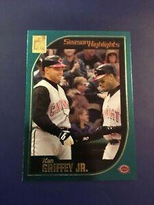 2001-Topps-389-KEN-GRIFFEY-JR-Season-Highlights-Cincinnati-Reds-MINT-Look