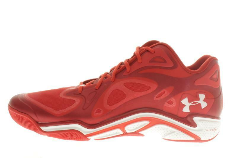 Mens Large Size  Under Armour Anatomix Red Athletic Shoes 18 M..529B Org $200