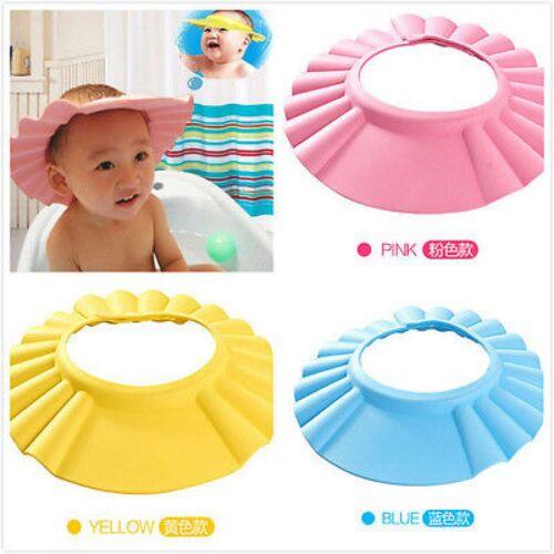 Baby Duschhaube Waschen Haar Schild Direkt Visier Kappen für Kinder Pflege Neu