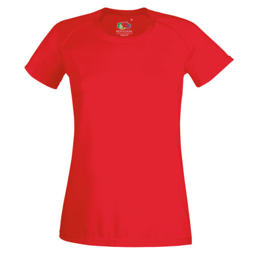Women/'s Active Gym//Sports T-shirt Fruit of the Loom Lady-fit Performance Tee