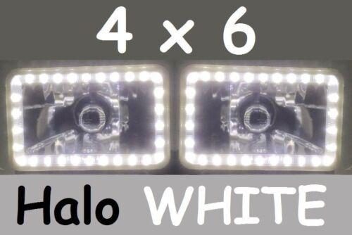 "6x4/"" H4 Hi//Lo Halo Lights JTX 35w HID Kit suit Toyota Landcruiser 62 80 series"