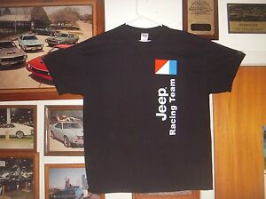 AMC-Jeep-Racing-Team-XL-tshirt-Renegade-Comanche-Cherokee-CJ5-CJ7-XJ-304-360-401