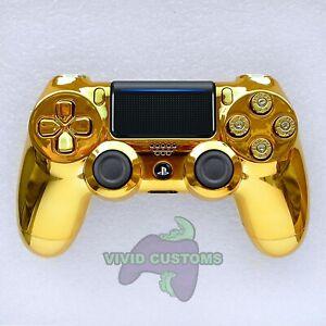 Custom-PlayStation-4-versione-2-Dualshock-Controller-PS4-Slim-Proiettile-d-039-oro-Pro-V2