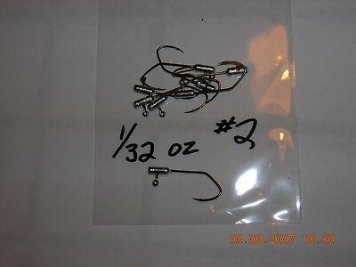 50 1//24oz Ball Head Jigs Bronze Sickle Hooks #8  #6  #4  #2  #1 U Choose