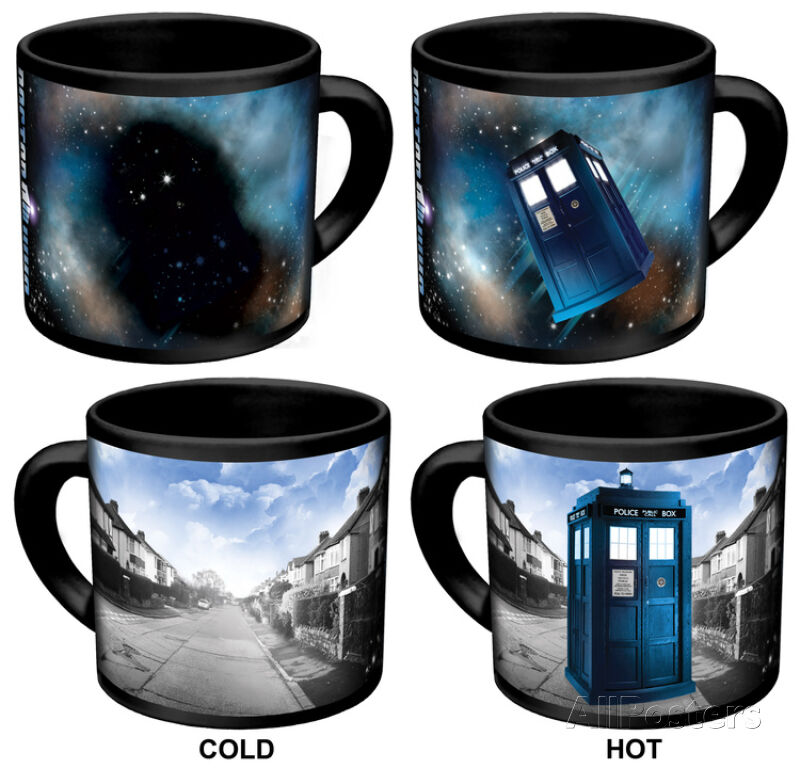 Dr Doctor Who Disappearing Tardis Changing Coffee Ceramic Cup Mug 3 5x4 5
