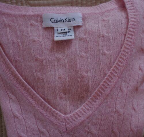 kasjmier roze Klein trui maat Calvin Dames Klein hals Pullover v medium mwn08vNO
