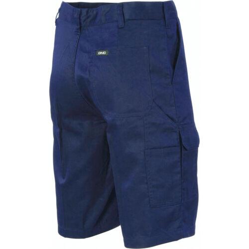 5 X Lightweight Cool-Breeze Cotton Cargo Shorts DNC 3304