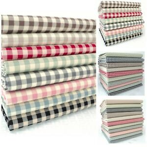 Vintage Kent 2 Yarn Dyed Gingham Cotton Fabric 3mm 9mm