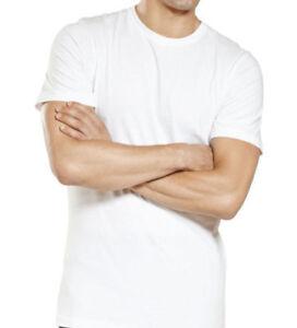 Lot-6-Pack-Mens-100-Cotton-Crew-Neck-Tagless-T-Shirt-Undershirt-Tee-White-S-XL