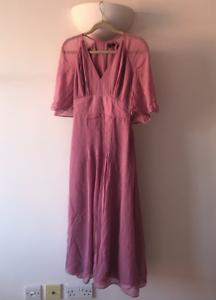 Massimo-Dutti-Woman-Rose-Pink-Pleated-Dress-Size-XS