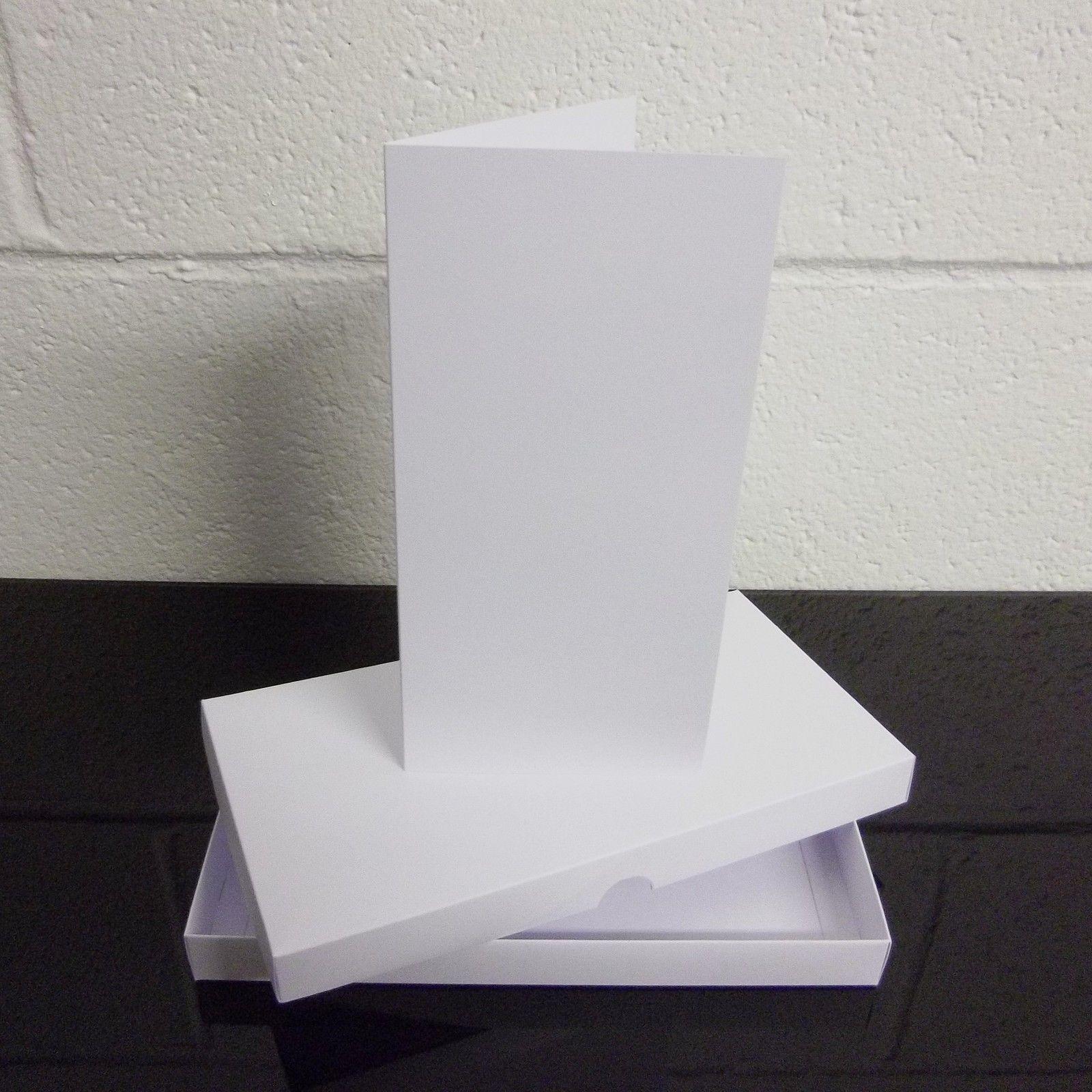 DL Weiß Greeting Greeting Greeting Card Box   Wedding Invite Box With Card Blanks Choose Qty c92913