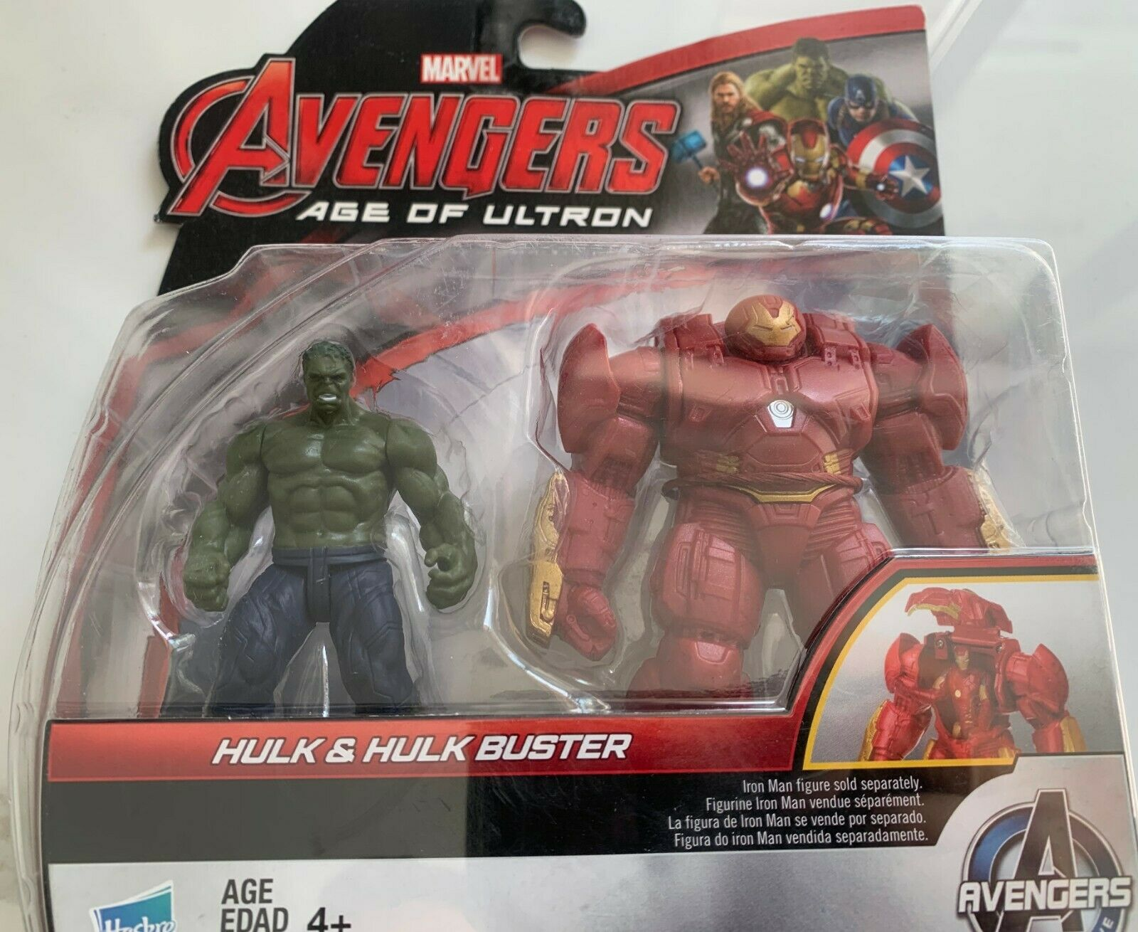 Marvel  Avengers Age of Ultron Hulk and HulkBuster Figure 2.5 inch
