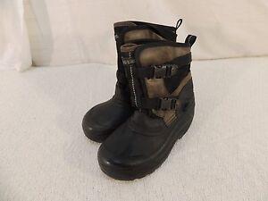17de514853ea Skechers Winter Snow Boots Women s 4 SN 96054L Buckle Fasten Brown ...