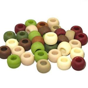 Plastic Crow Beads Camouflage Multi 9mm 1000 Pack