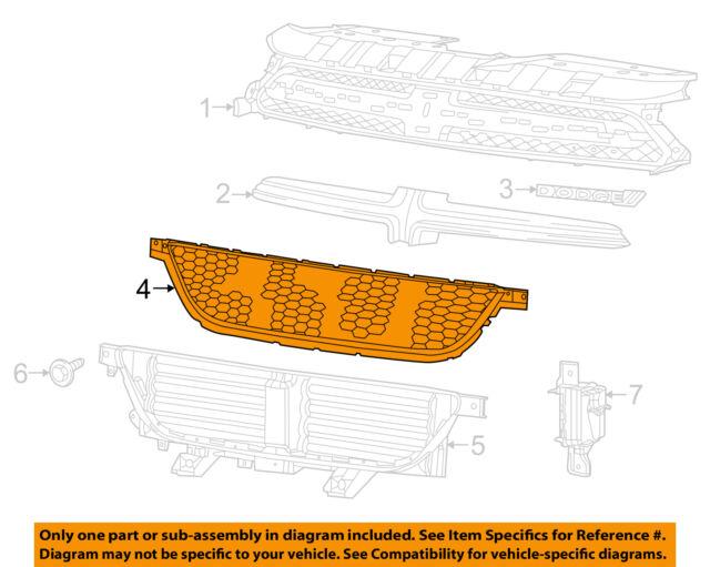 Dodge CHRYSLER OEM 13-14 Dart Front Bumper Grille-Lower Grille 68081409AA