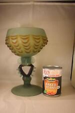 Murano? a mano soffiato smerigliato Green & Brown Ciotola di vetro Bonbon PIATTO GRANDE CALICE
