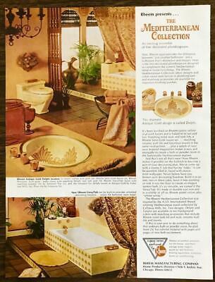 1966 Rheem Bathroom Fixtures Print Ad, Used Bathroom Fixtures