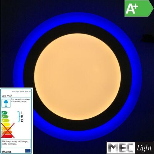 warm-weiß runde dekorative Design LED Deckenleuchte 9W mit blauem Leuchtrand