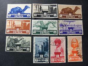 ITALIA-ITALY-1933-COLONIE-ERITREA-034-Soggetti-Africani-034-10-V-Cpl-SET-MNH-MH-US