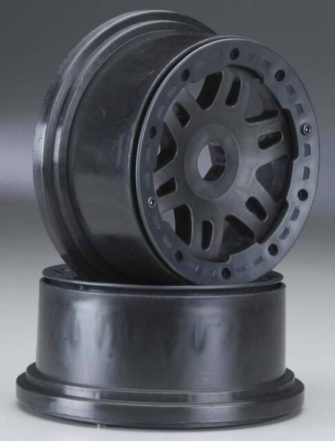 2 PRO271903 NEW Pro-Line HPI Baja 5T Rear Split Six Black Bead-Loc Wheel Set