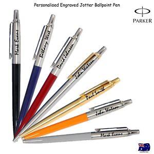 Personalised-Engraved-Genuine-Parker-Jotter-Ballpoint-Ball-pen-Free-Gift-Box