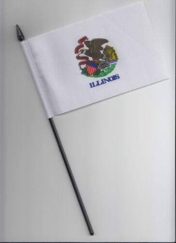 Illinois US State Small Hand Waving Flag